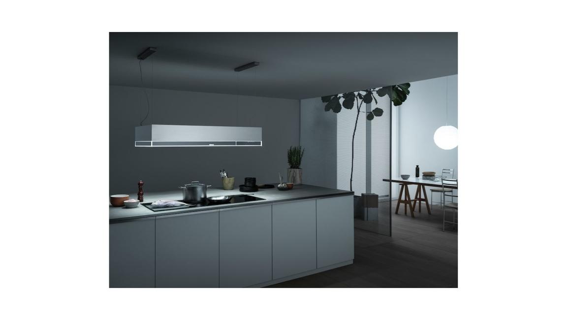 Falmec, Spazio, Circle Tech cooking hoods, Levante, Vega, Cooker hoods with lights, Cooker hoods with shelves, Carbon.Zeo filter, Contemporary kitchens, Kitchen appliances