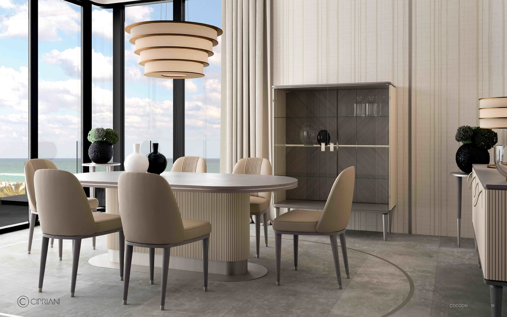 Cipriani homood, Ottimo, Sestosenso dining table set, Blue Moon Dining Tables, Cocoon Dining Table, Eclipse Dining Table, Italian furniture