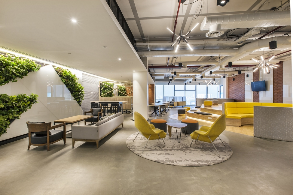 Space Matrix, Office design, Corporate interiors, Biophilic Designs, Collaborative offices, Office neighbourhoods, Office ergonomics, Lighting design in offices, Fellowes Workplace Wellness Trend, Department of Design and Environmental Analysis Cornell university