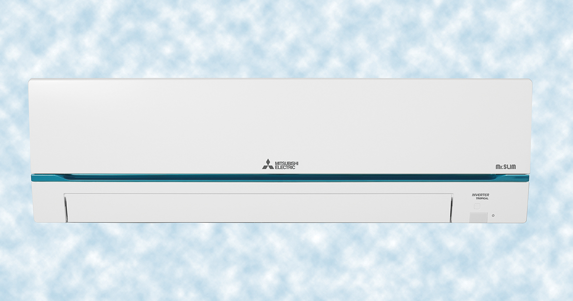 Indoor unit from the MSY-GRT series by Mitsubishi Electric.