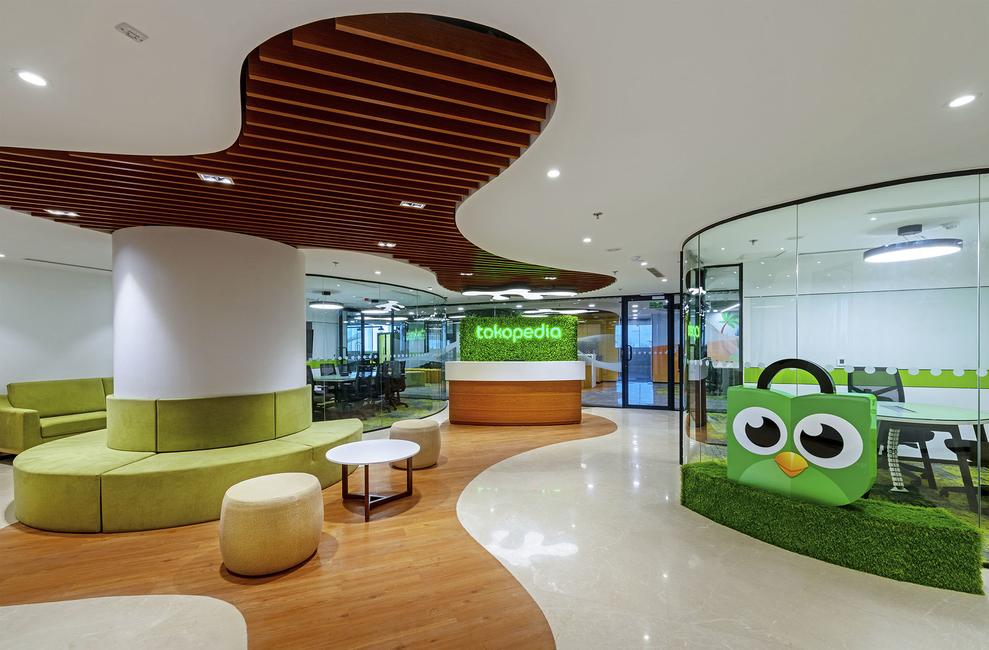 Dezinetree, Tokopedia India Office, Design and build project, Corporate office, Office design, Archipelago