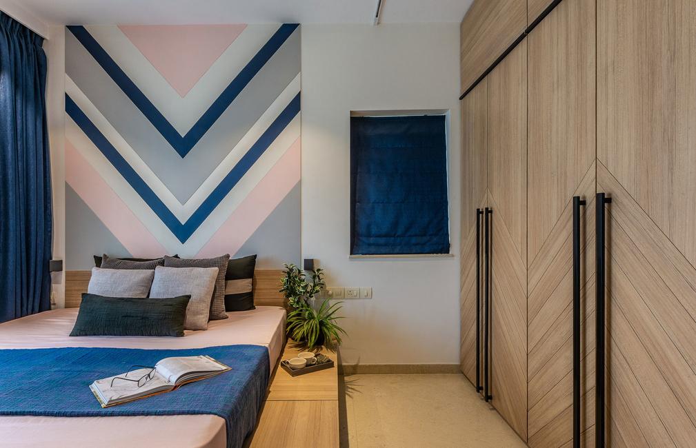 Make That Space, Renovation, Mumbai, Apartment, Hand-painted, Feature wall, Sliding blackboard, Multi-functional unit