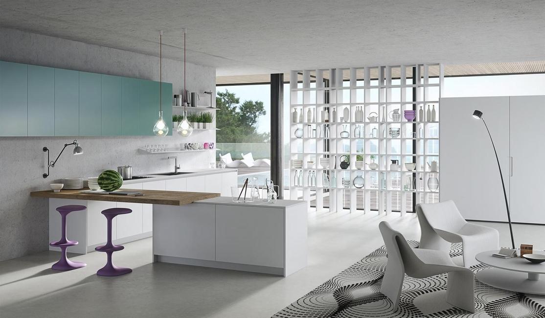 Contemporary, Designer kitchen, Karan kitchen, Rastelli, Karim Rashid, Alucobond, Corian