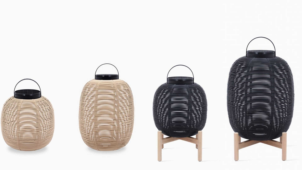 Vincent Sheppard, Tika collection, Handwoven lanterns, Synthetic rattan lantern, Outdoor lighting, Solar-powered lights, Llyod Loom furniture