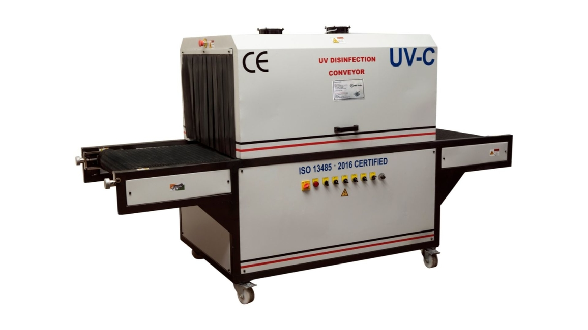 MSV India Inc, UV disinfection conveyor, UV-C lamps, UVT Conveyor, Public sanitation