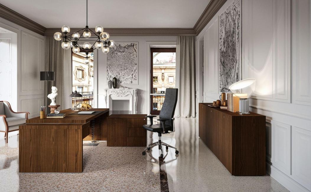 Newform Ufficio, President collection, Desks, Bookcases, Pedestals, Service units, Executive desks, Home office