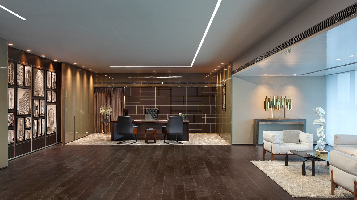 Kns architects, DLH corporate office, Office design, Commercial design, Cabin design