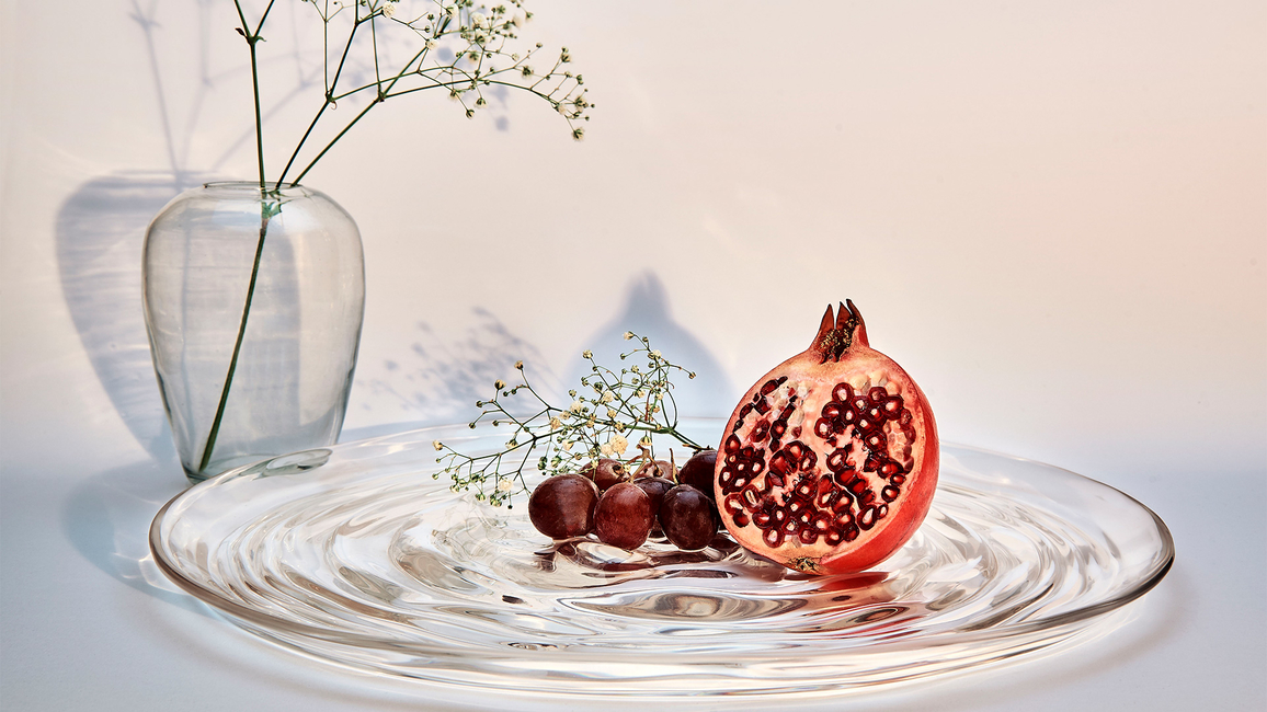 Yasanche, Ripple fruit tray, Water series, Home decor, Luxury home products, Dining decor