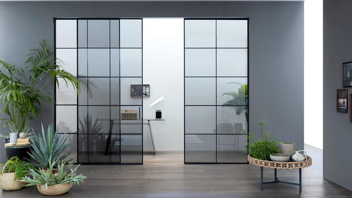 Lualdi, Minimalist sliding glass doors, Ottimo, Launch, Italian design, Home interiors