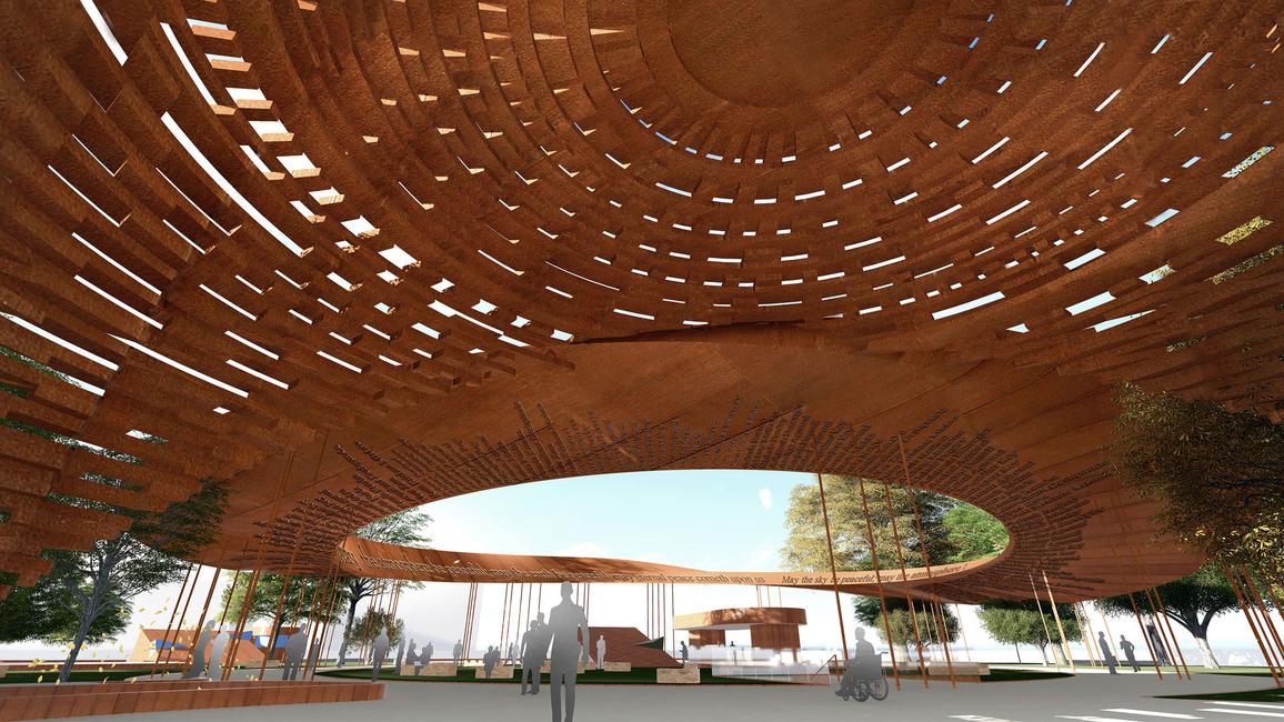 The Peace Pavilion.