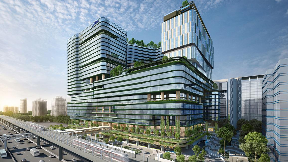 Aedas, NESCO Centre Building II, Mixed-use Development, Urban Campus, Commercial projects, Business hotel, Sögütözü Business Centre, Food Court design, Pedestrian-friendly design