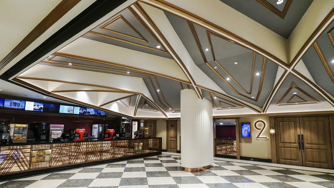 Sync Design Studio, Inox Gorakhpur, City Mall Gorakhpur, Inox Leisure, Multiplex design, Theatre design, Art Deco style, Geometric design, Cinema design
