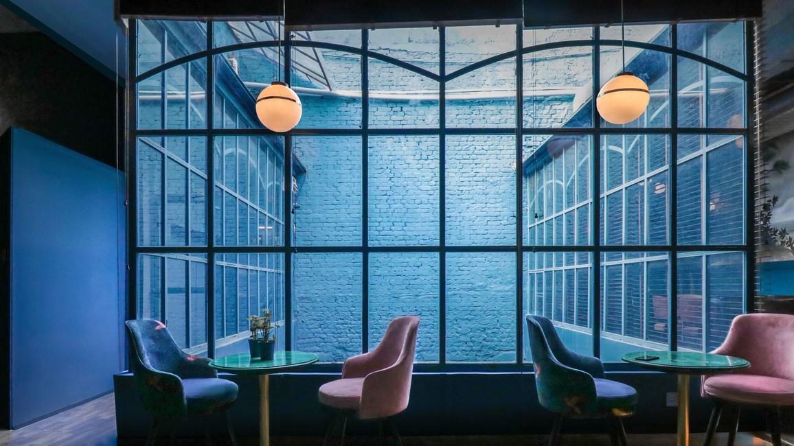 Pantone Collective Design Studio, Blue Baoli, Upneet Kaur, Tanya Chutani, Hospitality design, Baoli wells, Vernacular architecture, Pantone Colour of the Year 2020, Cotton & Satins, Cole & Sons