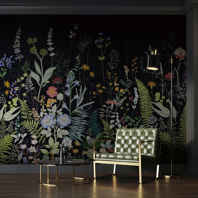UDC Homes, Nuance collection, Nature-inspired wallpapers, Floral motifs, Plant fibre wallpaper, Eco-friendly wallpaper, Sustainable products, Wall coverings, Wall finishes