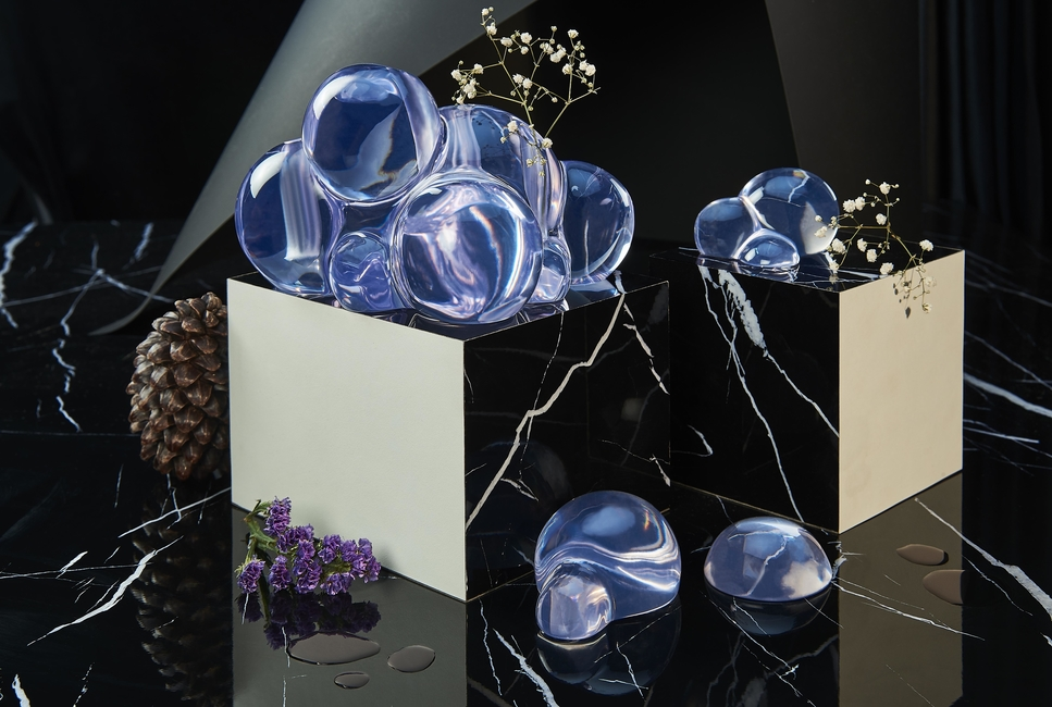 Yasanche, Bubble I Flower Vase, Flower vase, Water series, Home decor, Translucent resin, Contemporary décor