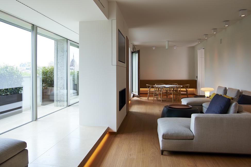 Gorlini, Gorlini doors & windows, Milan, Apartment, Ottimo, Double superior doors and windows, Mattia Vittori, Apex fine sliding system