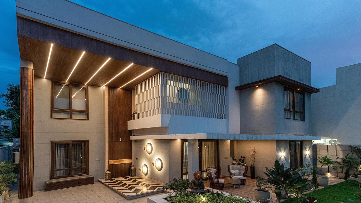 Azure Interiors, Residential Project, Raipur, Designs, Bungalow interiors, Interior décor, Home decor