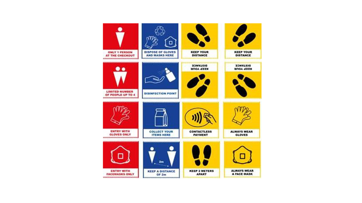 HP, 3M, Signage templates, COVID-19 safety measures, India, High traffic spaces