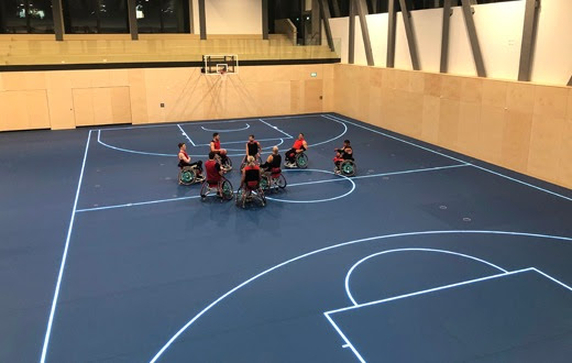 ASB GlassFloor, MultiSports, On Your Marks Cham, OYM Switzerland, Sports training centre, Sports floor, High tech sports centre, Squash courts