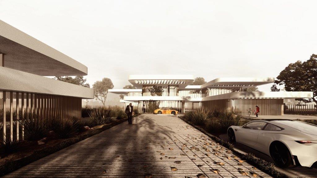 Studio Symbiosis, Floating Terraces, Villa design, Bungalow architecture, Residential design, Climate sensitive design, Courtyard homes, Residential landscape