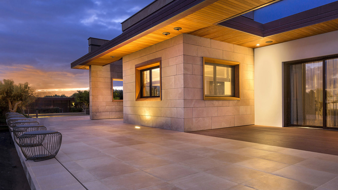 Vibia, Lighting design, Villa design, Meridiano lamps, Vibia Bamboo floor lamps, Outdoor lamps, Exterior illumination, Pool lighting