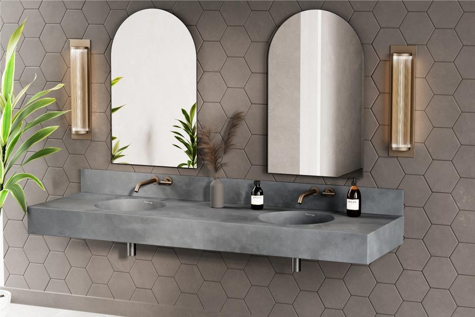 Nuance Studio, Monolith washbasins, Concrete washbasins, Litheoz technology, Concrete products, Contemporary bathrooms, Modern bathrooms