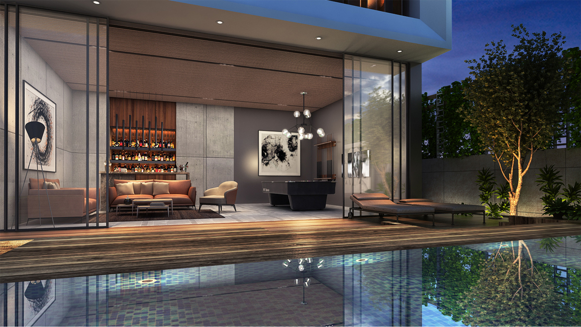 42mm Architecture, Outdoor spaces, Green outdoor spaces, Charming outdoor spaces, Pool terrace, Sunken courtyard