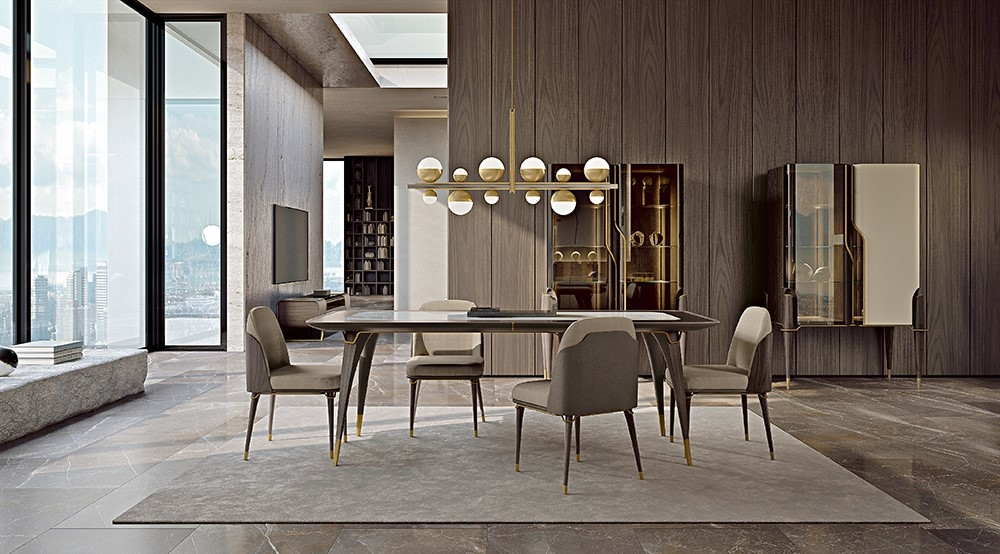 Turri, Melting Light by Frank Jiang, Furniture collection, Sofas, Armchairs, Beds, TV Cabinet, Sideboards, Coffee tables, Side tables, Ectangular dining table