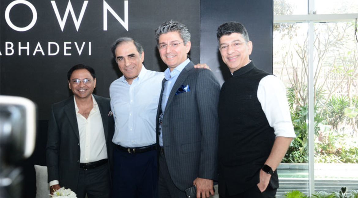 Architect Hafeez Contractor (second from left) at the launch.